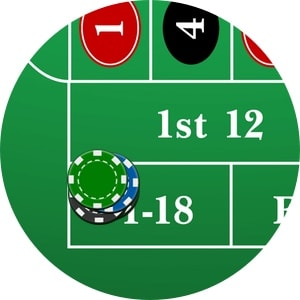 Roulette Dozens High low numbers