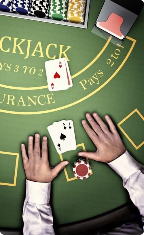 Blackjack even money insurance
